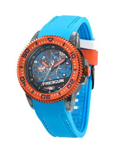 Freegun Unisex-Armbanduhr Analog Quarz Blau EE5053