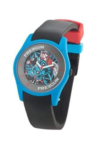 Freegun EE5070 Jungen-Armbanduhr Regate Quarz analog Silikon, Schwarz