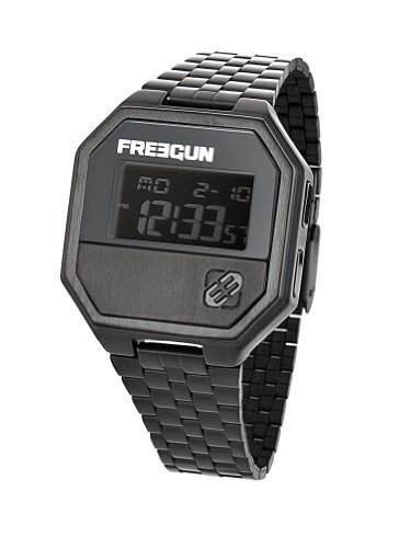 Freegun EE5098-Herren UHR-Digital-Analog Metall Schwarz