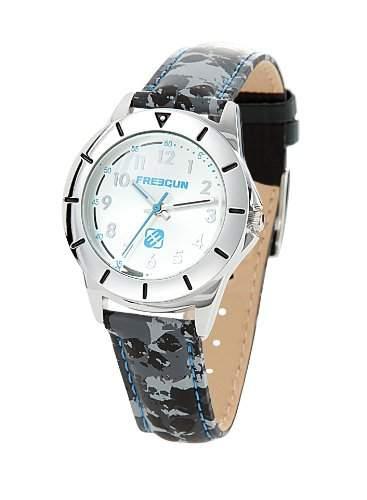 Freegun EE5114 Jungen-Armbanduhr Anastasie Quarz analog Leder, mehrfarbig