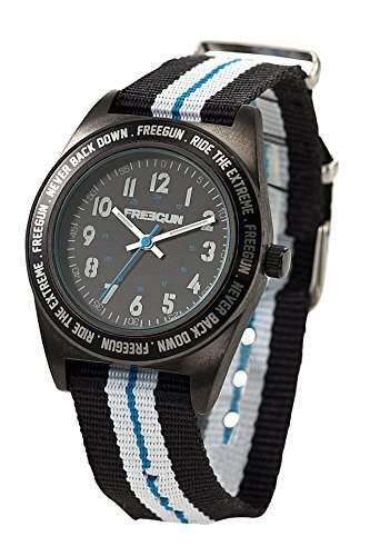 Freegun EE5140 Jungen-Armbanduhr Alyce Quarz analog Armband Nylon, mehrfarbig
