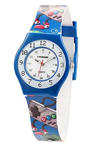 Freegun ee5173 Zeigt Jungen Quartz Armbanduhr EE5002 Analog Kunststoff mehrfarbig