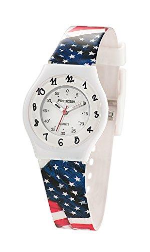Freegun ee5185 Zeigt Jungen Quartz Armbanduhr EE5002 Analog Kunststoff mehrfarbig