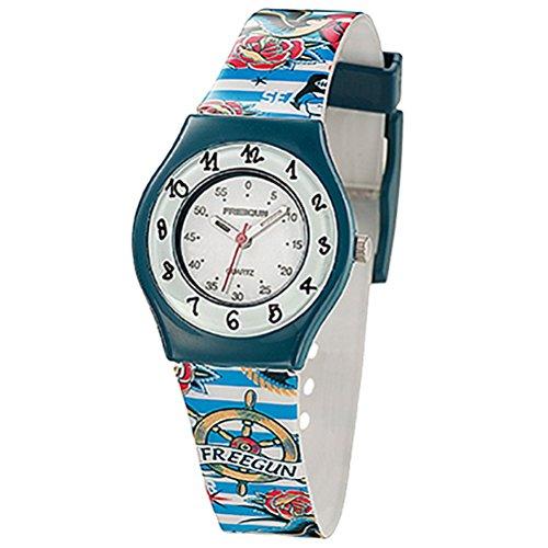 Freegun ee5191 Zeigt Jungen Quartz Armbanduhr EE5002 Analog Kunststoff mehrfarbig