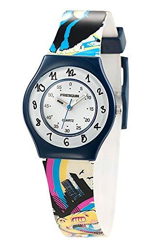 Freegun ee5172 Zeigt Jungen Quartz Armbanduhr EE5002 Analog Kunststoff mehrfarbig
