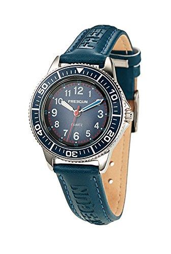 Freegun EE5181 Zeigt Jungen Armbanduhr 10510262 Analog Leder Blau