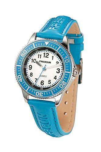 Freegun ee5182 Zeigt Jungen Armbanduhr 10510262 Analog Leder Blau