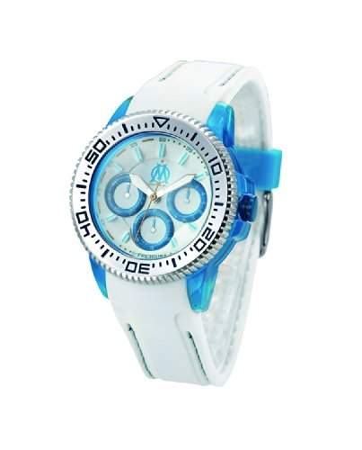 Freegun OMF8003, Olympique de Marseille Jungen-Armbanduhr Regate Quarz analog Silikon Weiss