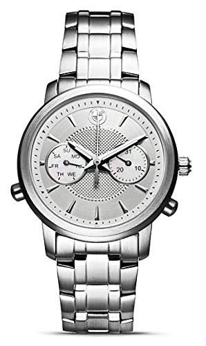 BMW Original Damen Armbanduhr Edelstahl, hellem Zifferblatt