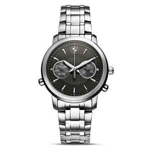 Original BMW Damen Armbanduhr Uhr Silber  schwarz