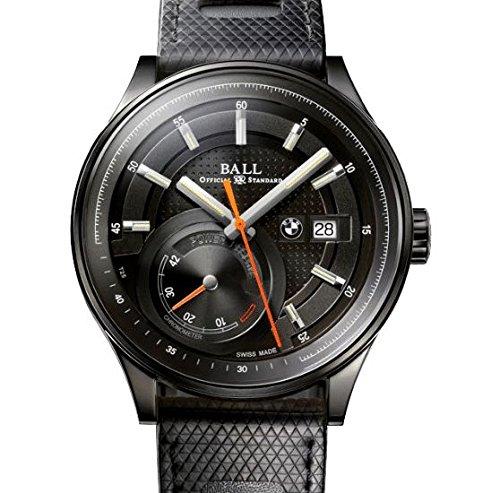 Original BMW Armbanduhr Uhr Automatik BALL for BMW Power Reserve Edelstahl schwarz