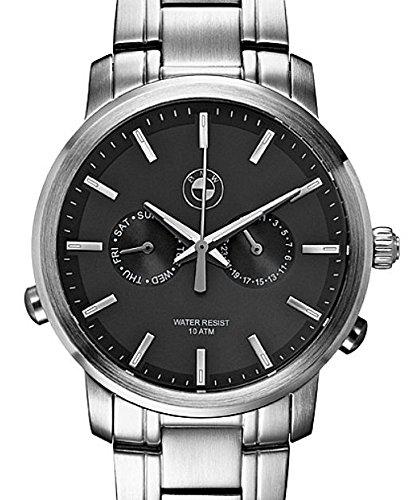 Original BMW Uhr Edelstahl mit dunklem Ziffernblatt