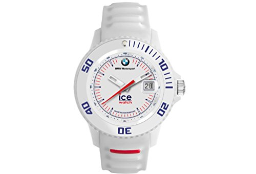 Original BMW Motorsport Ice Watch Basic Armbanduhr Uhr unisex in Weiss Sili