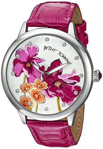 Betsey Johnson Damen bj00280 15 Analog Display Quarz Rosa Armbanduhr