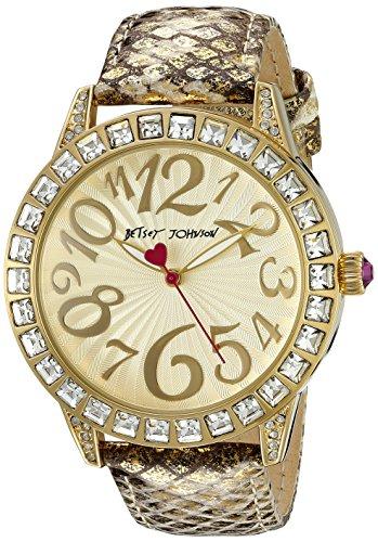 Betsey Johnson Damen bj00292 05 Analog Display Quarz Gold Armbanduhr