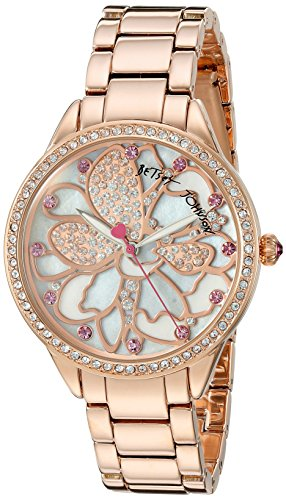 Betsey Johnson Damen bj00572 01 Analog Display Quarz Rose Gold Watch