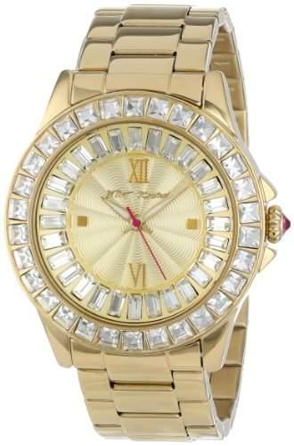 Betsey Johnson Damen-Armbanduhr Analog Quarz Edelstahl BJ00004-16