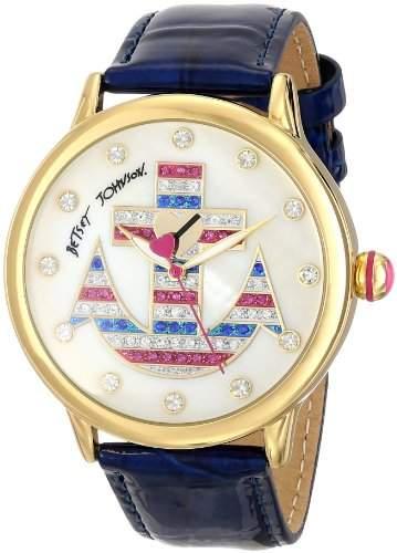 Betsey Johnson Damen BJ00084-51 Analog Display Quartz Blue Armbanduhr