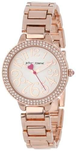 Betsey Johnson Damen BJ00235-02 Rose Gold-Tone Bracelet Armbanduhr