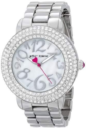 Betsey Johnson Damen BJ00306-01 Analog Display Quartz Silver Armbanduhr