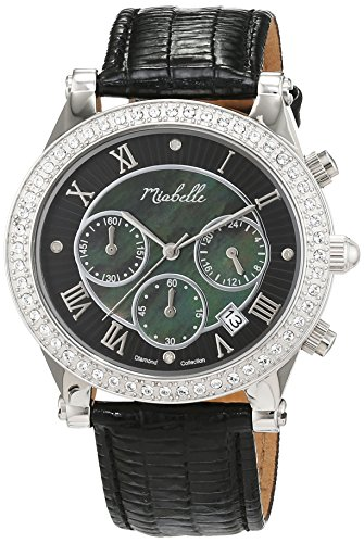 Miabelle Damen Armbanduhr Analog Quarz Leder 16 006W B