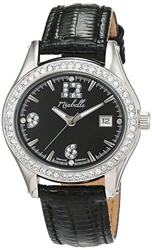 Miabelle Damen Armbanduhr Analog Quarz Leder 16 016W B