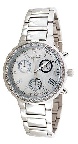 Miabelle Damen Armbanduhr Analog Quarz Edelstahl Diamanten Swarovski Elemente 12 001W A