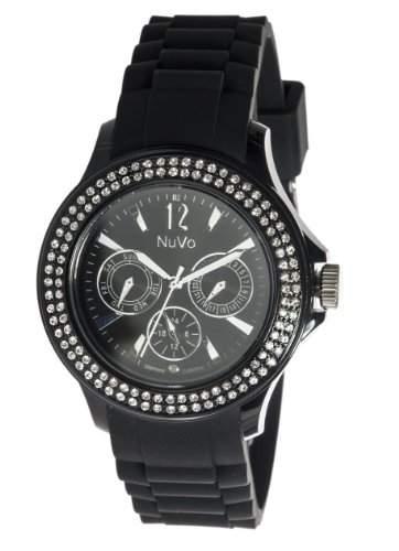 Nuvo Damen-Armbanduhr XL Obsession Analog Quarz Silikon NU131