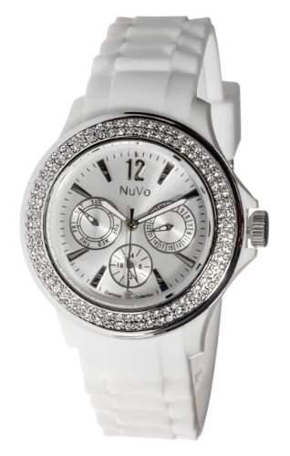 Nuvo Damen-Armbanduhr XL Obsession Analog Quarz Silikon NU135