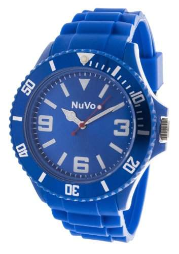 Nuvo Unisex-Armbanduhr Trend Analog Quarz Silikon NU13H02