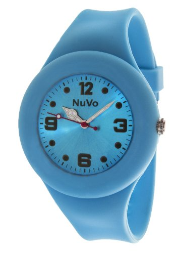 Nuvo Unisex Armbanduhr Trend Analog Quarz Silikon NU13H18