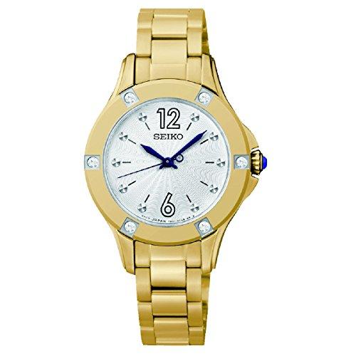 Seiko Damen Armbanduhr Analog Quarz Edelstahl SRZ424P1
