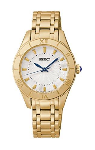 Seiko Damen Armbanduhr Analog Quarz Edelstahl SRZ434P1
