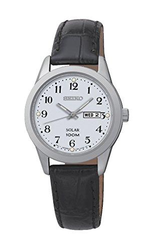 Seiko Damen Armbanduhr Analog Quarz Leder SUT195P1