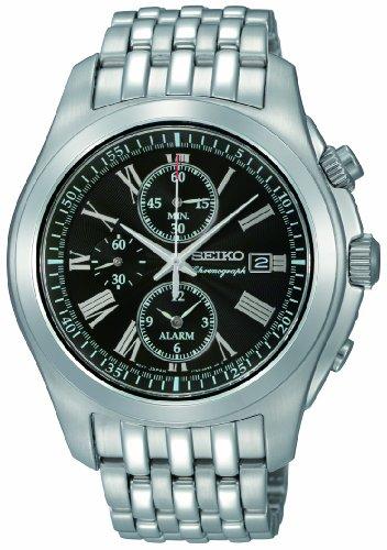 Seiko XL Alarmchronograph Analog Edelstahl SNAE31P1