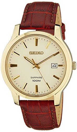 Seiko Herren Armbanduhr Analog Quarz Leder SGEH44P1