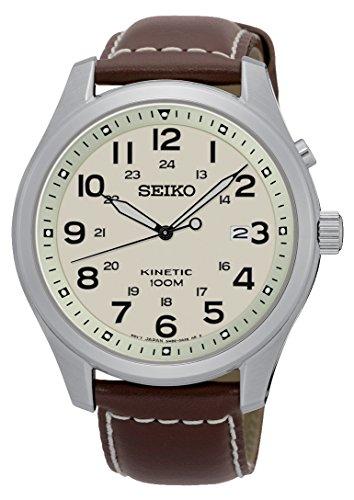 Seiko Herren Armbanduhr Analog Quarz Leder SKA723P1