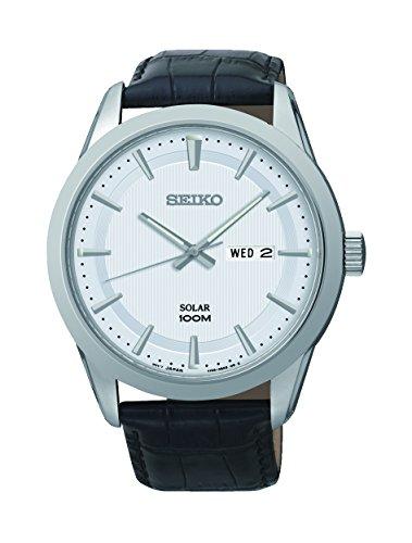 Seiko Herren Armbanduhr Analog Quarz Leder SNE359P2