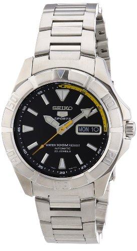 Seiko Herren Armbanduhr XL Seiko 5 Analog Automatik Edelstahl SNZD27K1