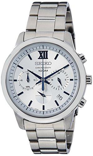 Seiko Chronograph Quarz Edelstahl SSB145P1