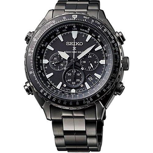 Seiko Herren Armbanduhr Chronograph Quarz Edelstahl SSG003P1