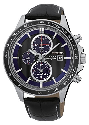 Seiko Chronograph Quarz Leder SSC437P1