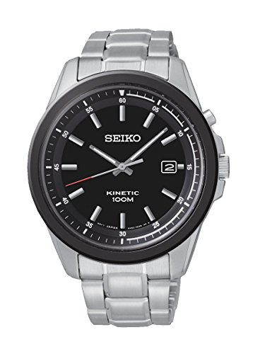 Seiko Herren Armbanduhr Kinetic Analog Quarz Edelstahl SKA679P1