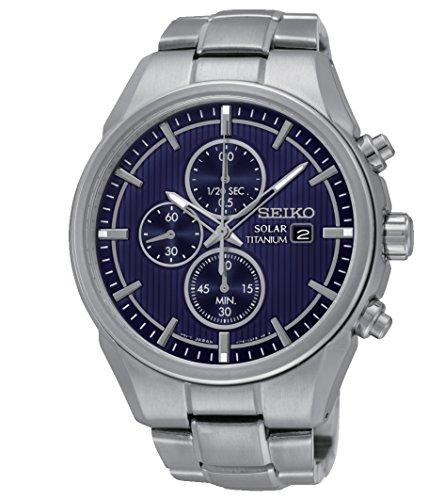 Seiko Herren Armbanduhr Prospex Analog Quarz Titan SSC365P1