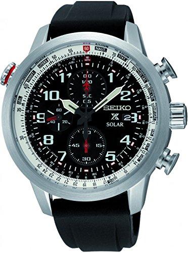 Seiko Herren Armbanduhr Prospex Chronograph Quarz Silikon SSC351P1