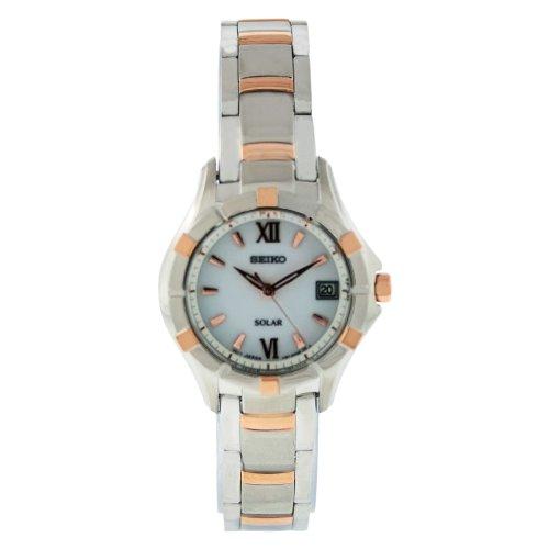 Seiko Ladies Solar White Dial Bracelet Watch SUT030P1