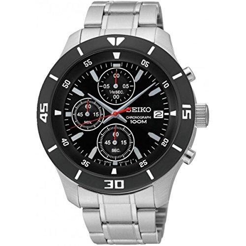 Seiko Quartz fuer Maenner Armbanduhr Chronograph Quartz SKS405P1