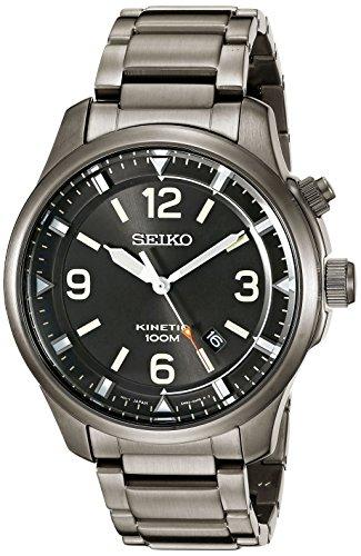 Seiko Herren ska707 Kinetic Analog Display Japanisches Quarz Grau Armbanduhr