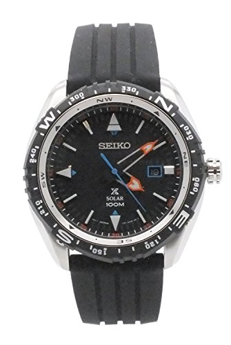 Seiko sne423 Herren Prospex Rubber Strap Solar Armbanduhr w Datum