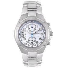 Seiko SNN135P1 Montre Chronographe pour Homme au Cadran Blanc